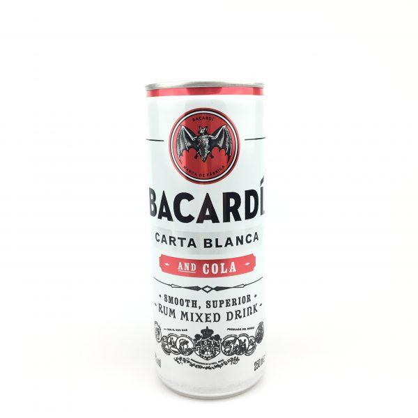 Bacardi carta blanca and cola