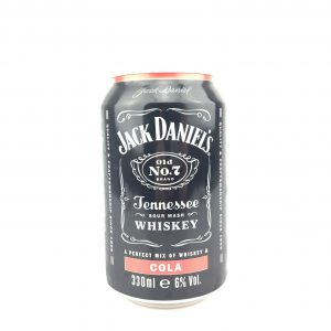 Jack daniels tenessee whisky cola 330ml.